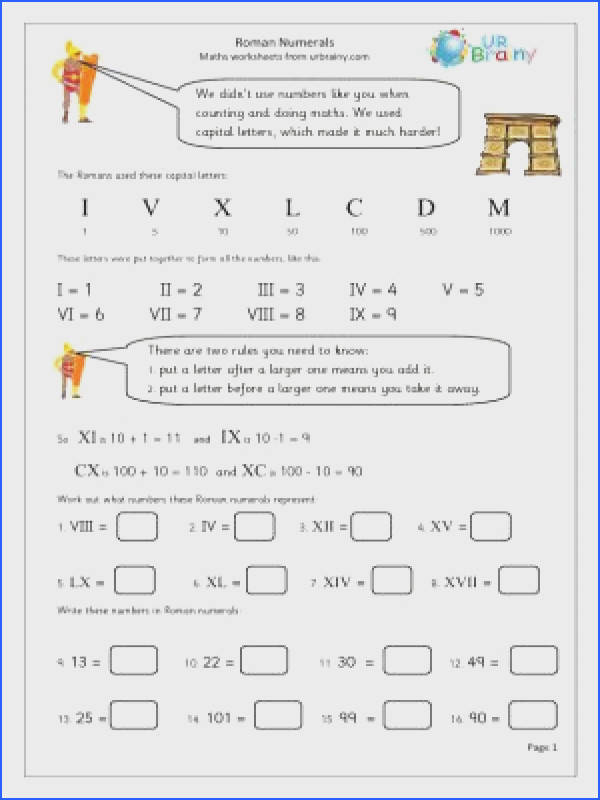 Roman Numeral Dates Worksheet Worksheets for all Download and Worksheets
