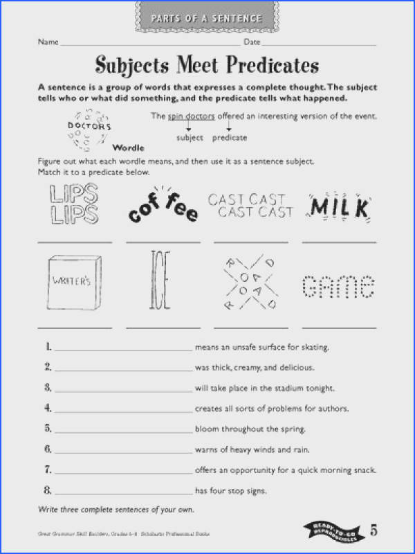 Subjects Meet Predicates Sentence Structure Help Teaching And