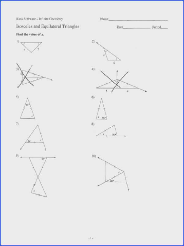 pictures isosceles and equilateral triangles worksheet mindgearlabs