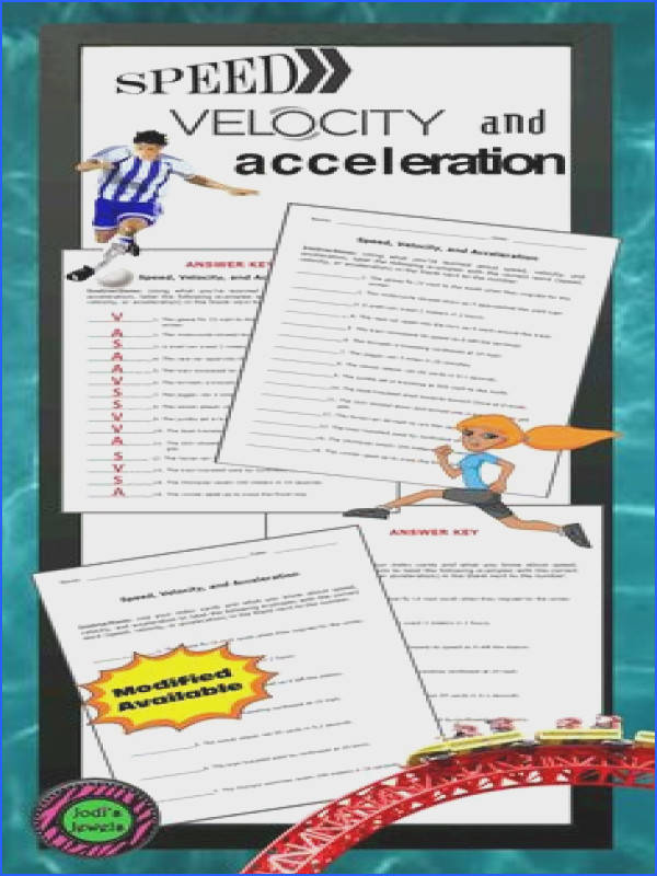 Science Journal Acceleration Triangle Foldable pleted