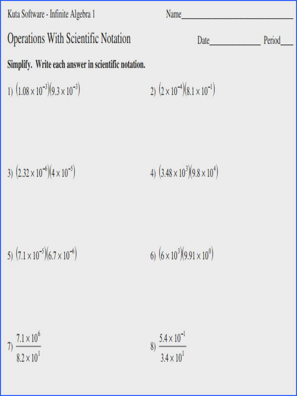 Scientific Notation Problems Worksheet Worksheets for all Download and Worksheets