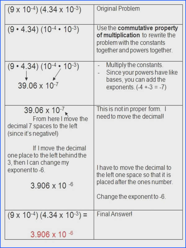 Scientific Notation Worksheet 82 best 8th grade math images on