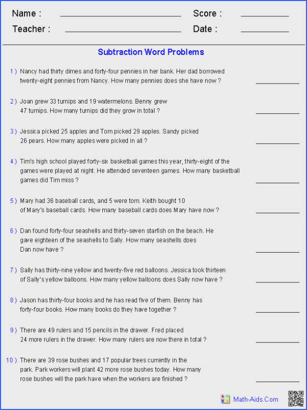 Second Grade Math Word Problems Worksheets Worksheets for all Download and Worksheets