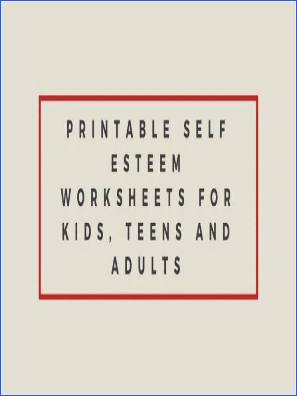 self esteem worksheets girls free worksheets library