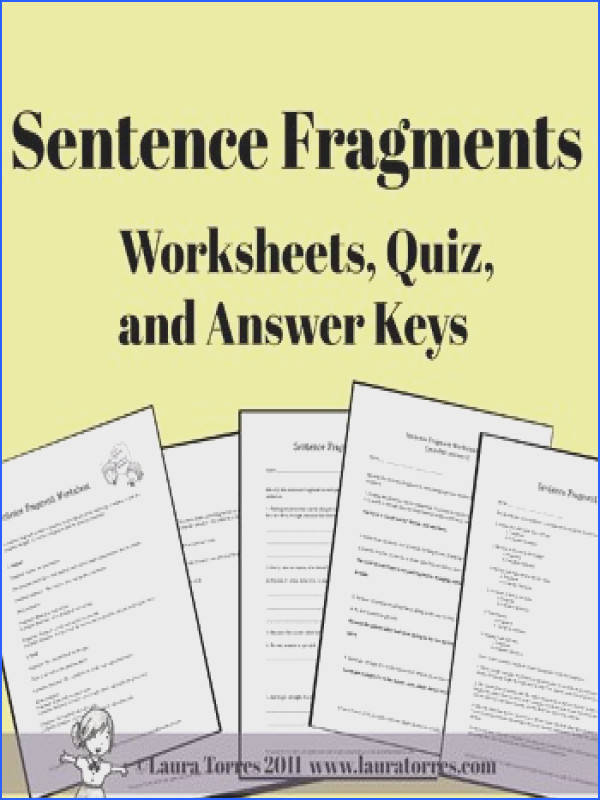 Sentence Fragments Worksheets Quizzes and Answer Keys