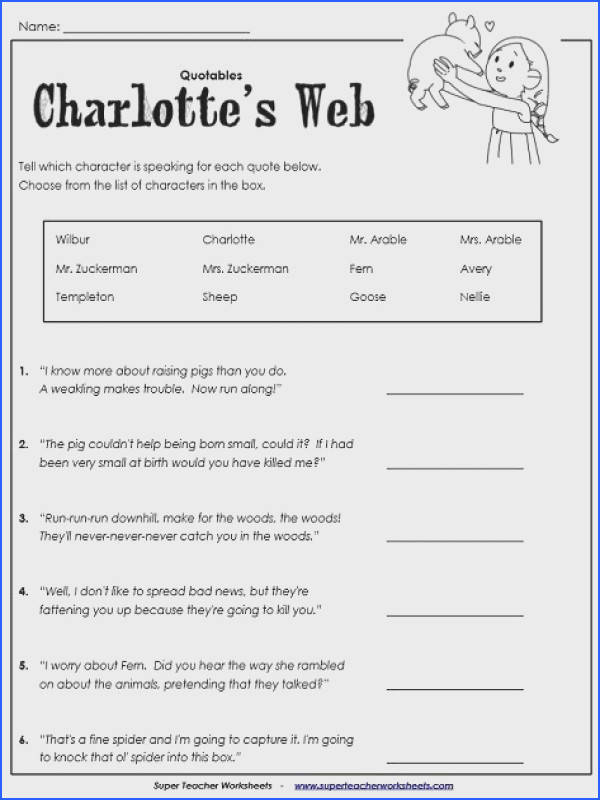 Sequences and Series Worksheet New Charlotte S Web Worksheet to Try Pinterest Sequences and