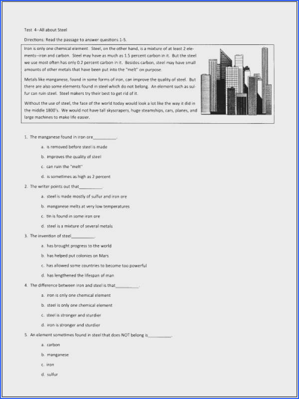 Inspiration Seventh Grade Reading prehension Practice Test Also 10 Free Reading Tests For Students In