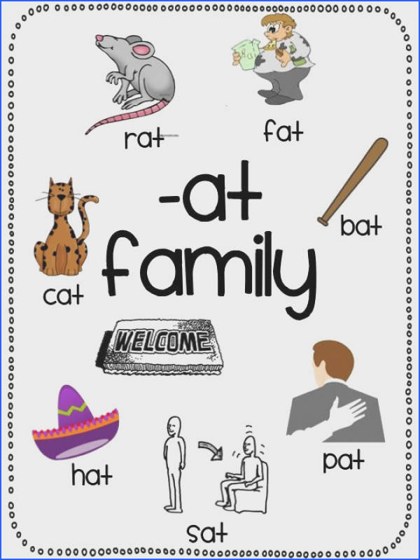 word family posters Short A