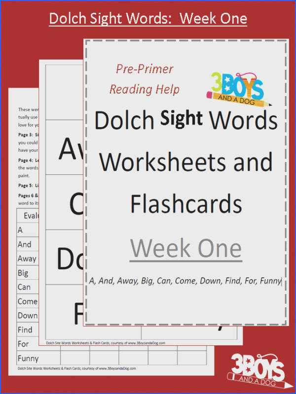 """Dog Worksheets word Boys Sight year sight 3 and Words ¢€"""" Dolch 1"""