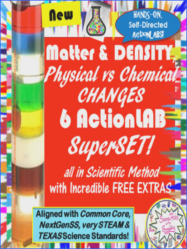 6 LAB SuperSET DENSITY & Physical vs Chemical CHANGES each99cents wFreebies