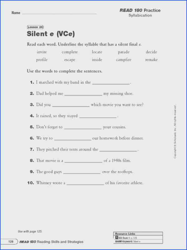 silent e worksheets 4th grade Google Search