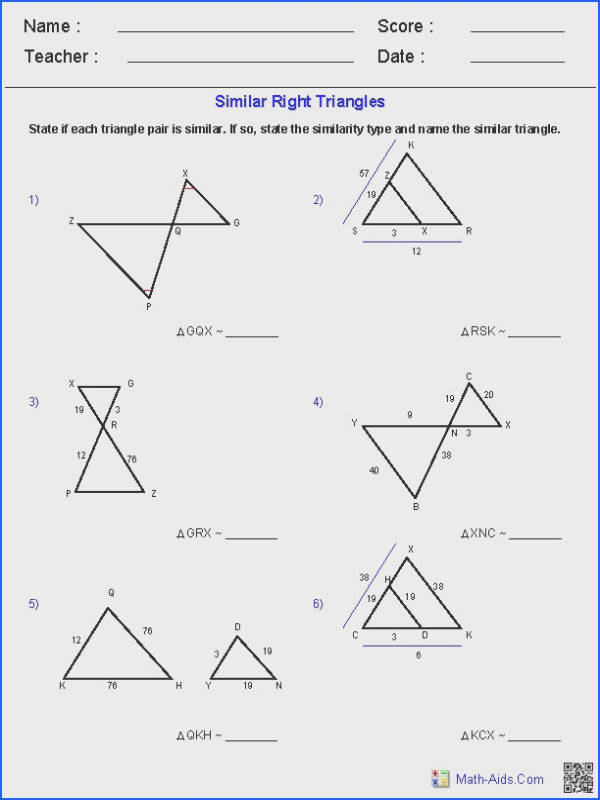 Geometry Worksheets Geometry Worksheets similar figures worksheet with answers
