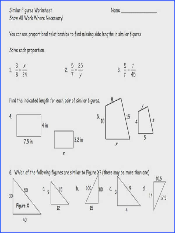 Similar Shapes Worksheet Free Worksheets Library