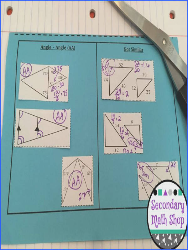 Similar Triangles Methods for Showing Similarity Cut and Paste Interactive Notebook PagesIn this fantastic set
