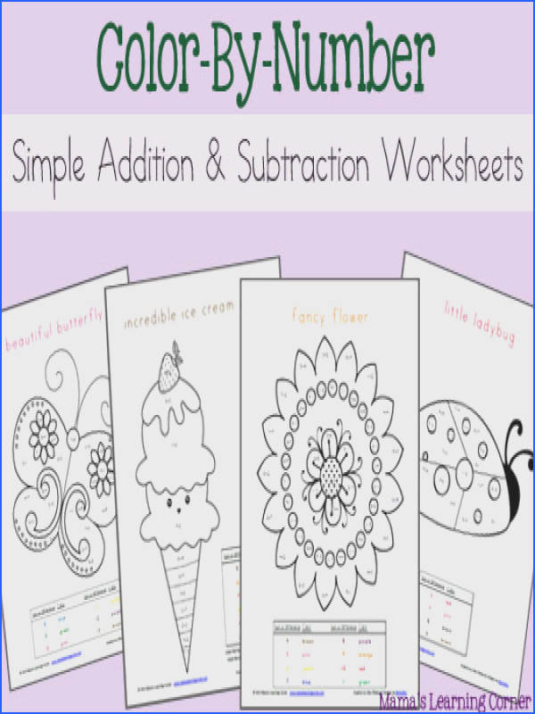 FREE Download Simple Addition and Subtraction Color By Number Worksheets Mamas Learning