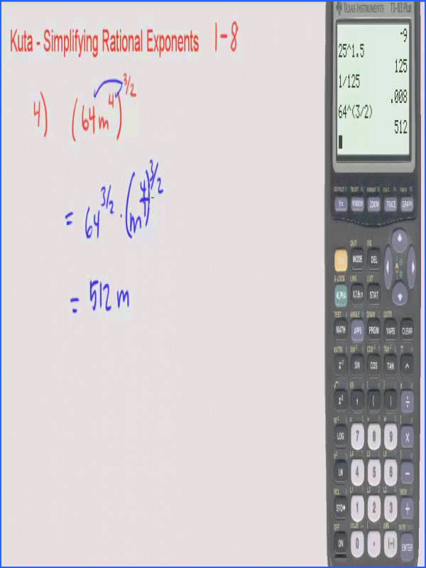 maxresdefault Kuta Simplifying Rational Exponents 1 through 8 from Simplifying Exponents Worksheet source youtube