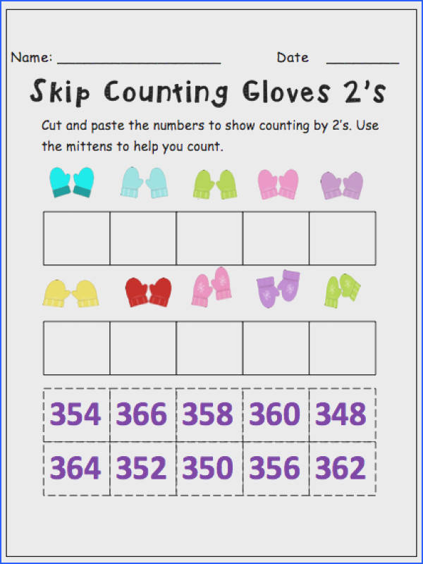 Skip Counting by 2′s This resource contains 5 worksheets for students