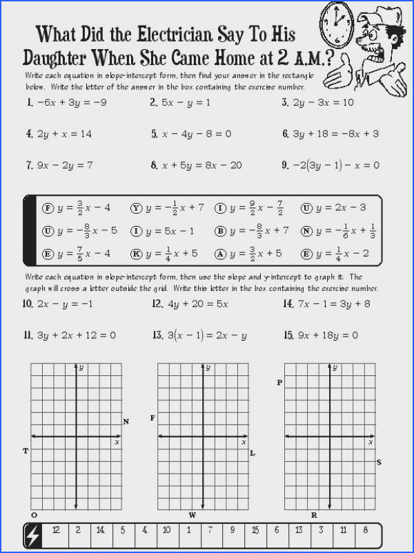 Graphing In Slope Intercept Form Worksheet Free Worksheets Library Download and Print Worksheets
