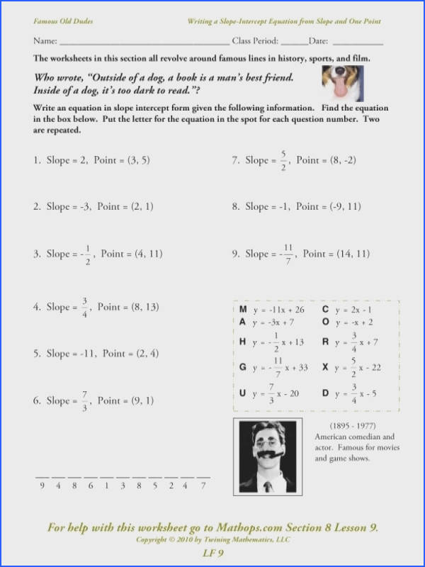 4 2 Practice Writing Equations In Slope Intercept Form Answers In
