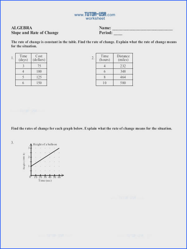 Tables with Equivalent Ratios Worksheets
