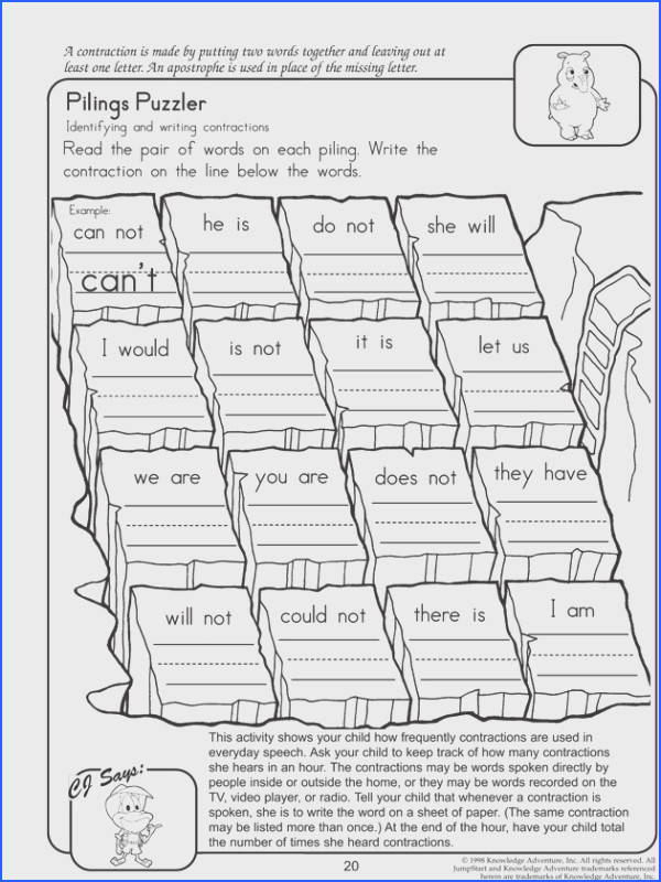 Smiling and Shining in Second Grade Contractions Worksheet Christmas Pinterest