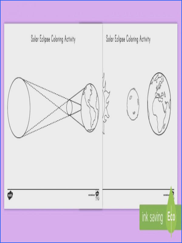 Solar Eclipse Coloring Page