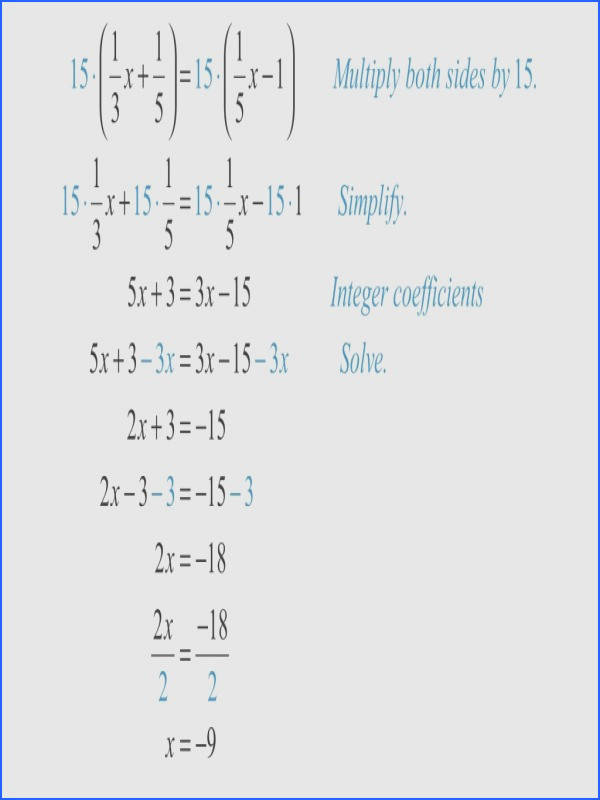 Kuta Software Infinite Kindergarten 3 3 How To Solve Equations Involving Fractions And Distribution