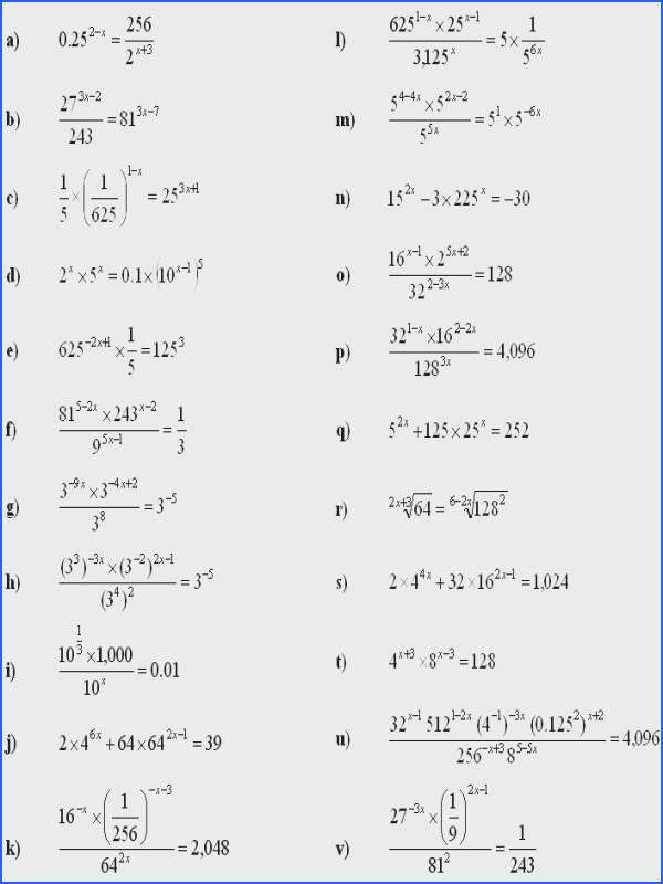 Solving Exponential Equations with Logarithms Worksheet Answers Best Stunning What is A Math Equation Worksheet