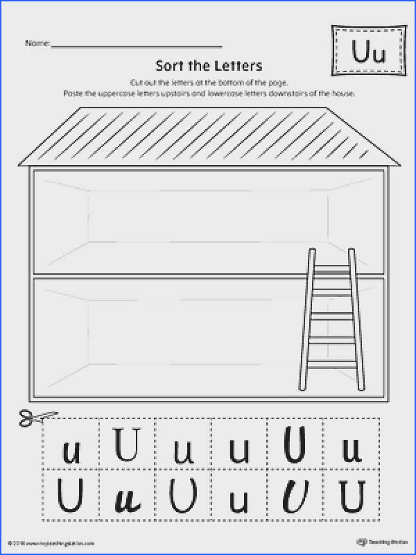 Sort the Uppercase and Lowercase Letter U Worksheet
