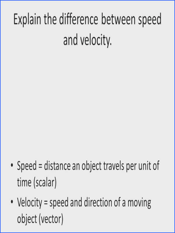 speed and velocity worksheet answers to her with explain the difference between speed and velocity inspiring speed