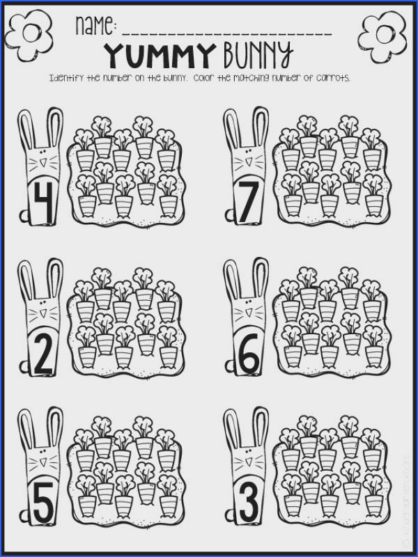Spring Math and Literacy Printables and Worksheets for Preschool Image Below Spring Worksheets