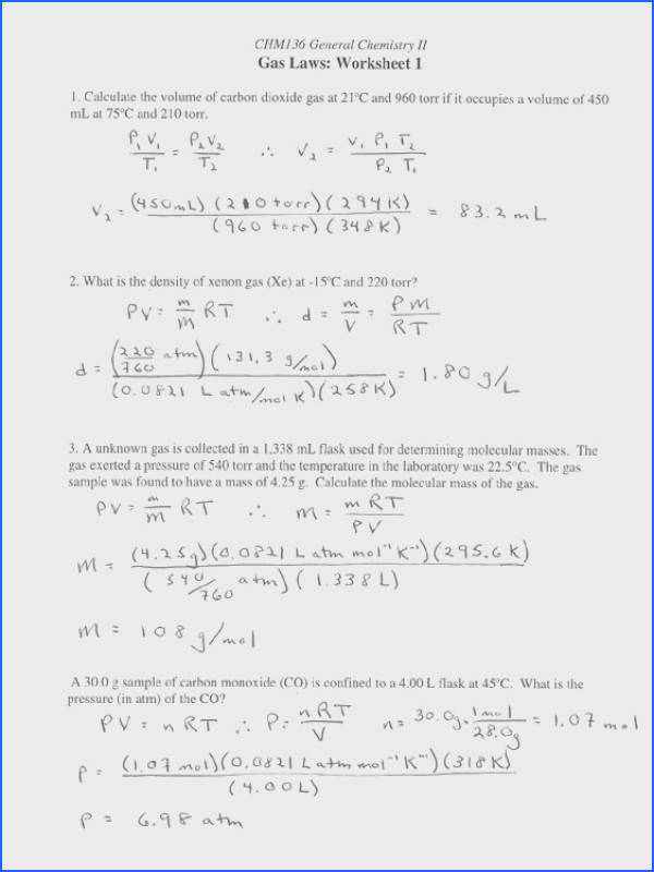 Gas Stoichiometry Worksheet Worksheets For All Download And
