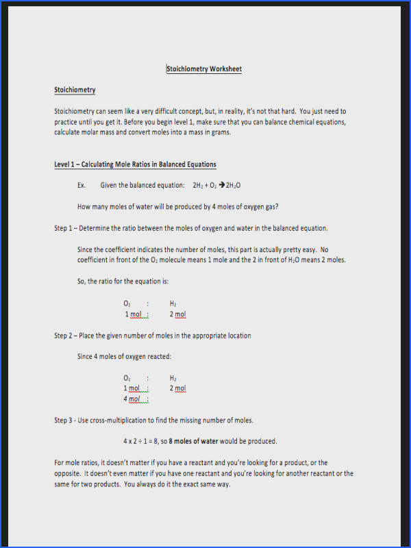 f27bb3210e2382a8b2373d74e78f6db5931 Student centered Stoichiometry worksheet plete package from Stoichiometry Practice