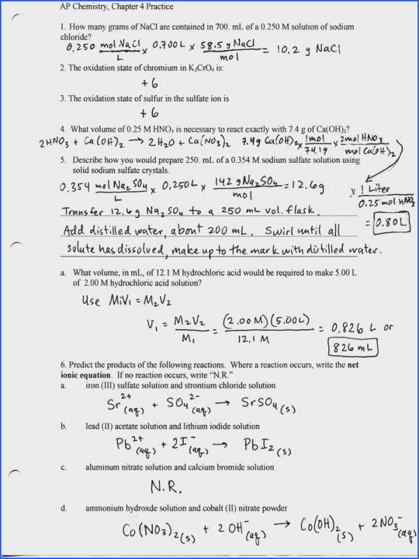 Basic Stoichiometry Worksheet
