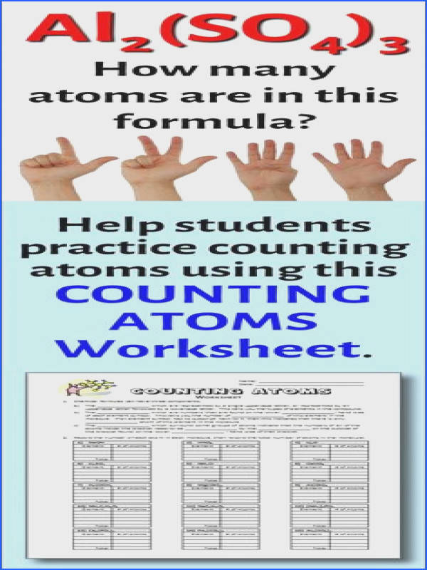 Students need to know how to count the number of atoms in a chemical formula before