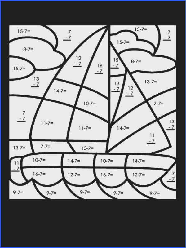 Subtraction doesn t have to be boring Have fun with this free color by numbers… specific second grade Pinterest