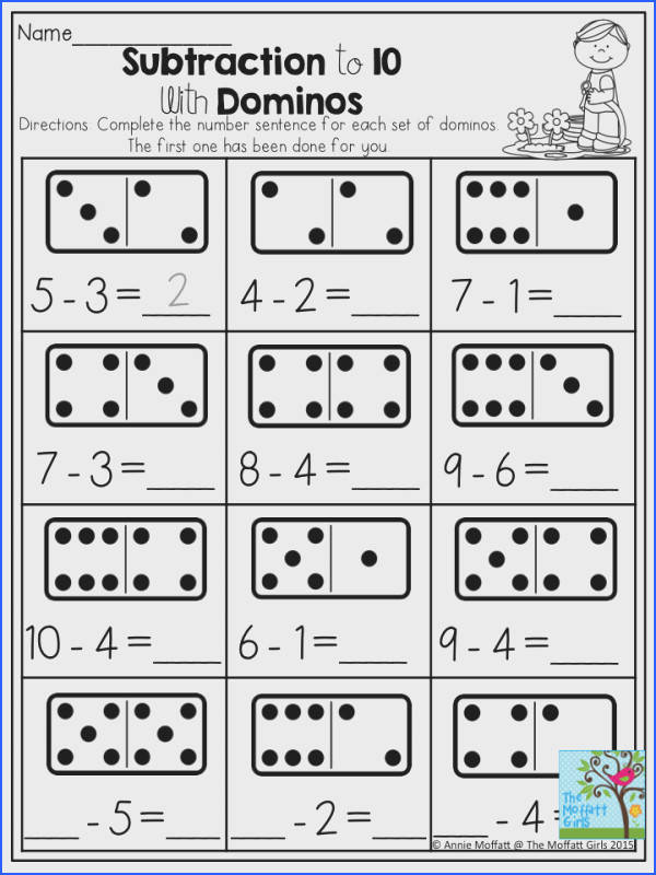 Subtraction to 10 with Dominos Dominos provide a tangible way to support quantity recognition when