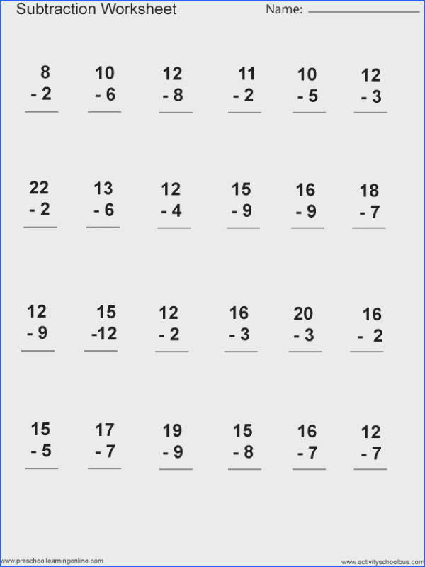 Subtraction Worksheets And First Grade Worksheets for all Download and Worksheets