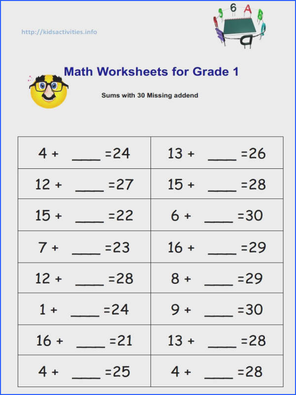Subtraction Worksheets Missing Addends Worksheets for all Download and Worksheets