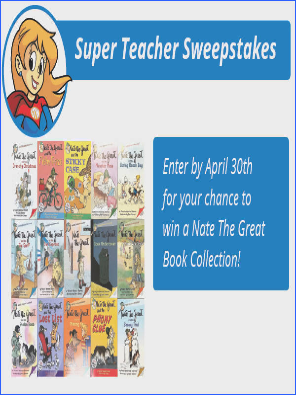Have you entered the Super Teacher Worksheets April contest We re giving away fifteen books in the Nate the Great chapter book series