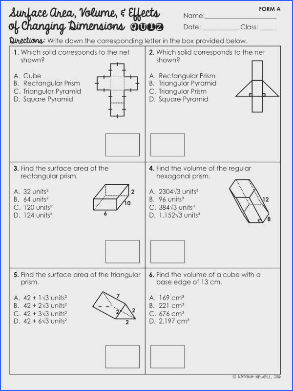 Surface Area and Volume of Pyramids Unit math Pinterest