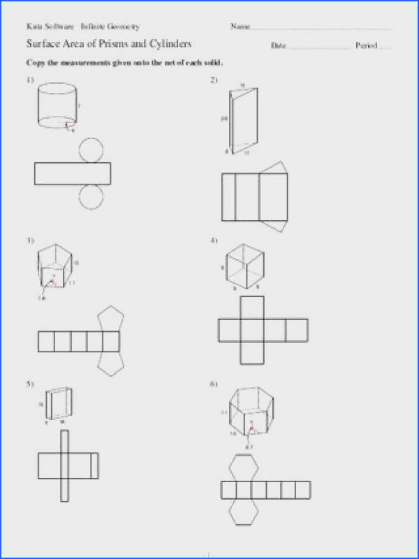 Surface Area Prisms And Cylinders Worksheet Worksheets for all Download and Worksheets