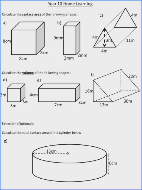 Surface Area And Volume Prisms By Dannytheref Teaching