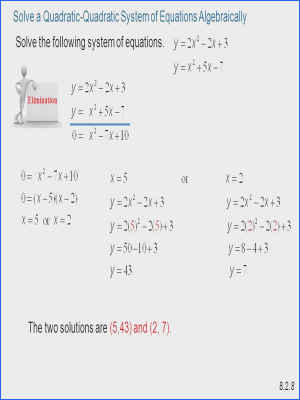 Systems Quadratic Equations Worksheet Worksheets For All Download And Free
