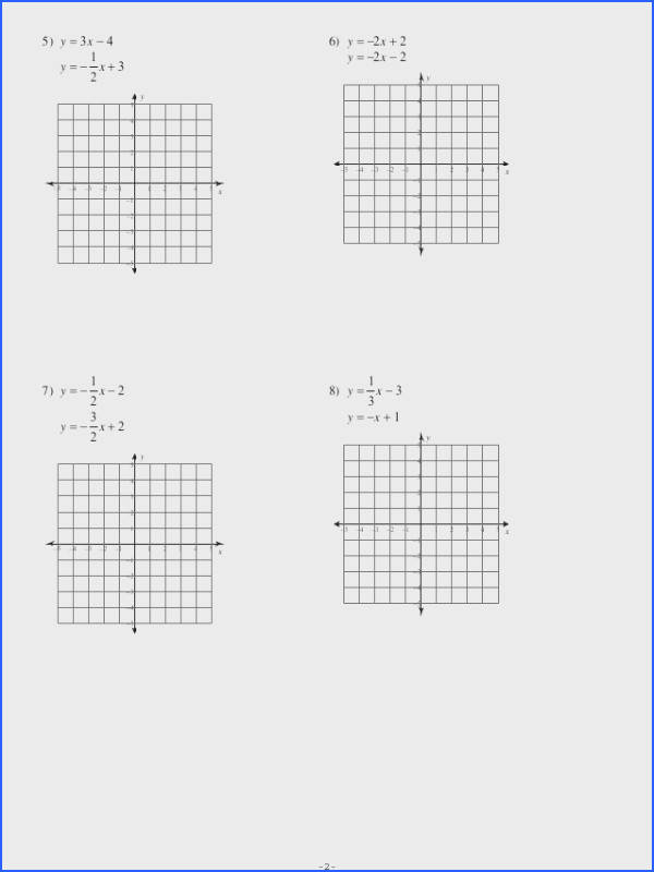 7 1 systems of equations graphing no key