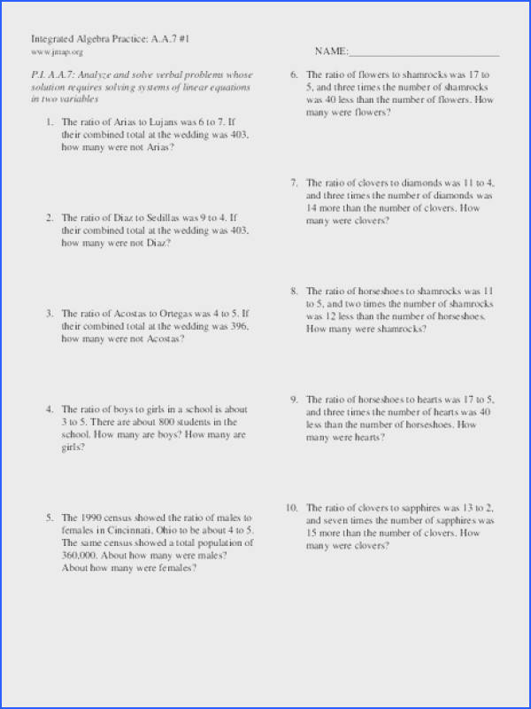 Systems Linear Equations In Three Variables Worksheet Worksheets for all Download and Worksheets