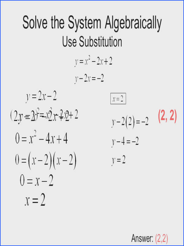 Systems Linear Equations Worksheet With Answers