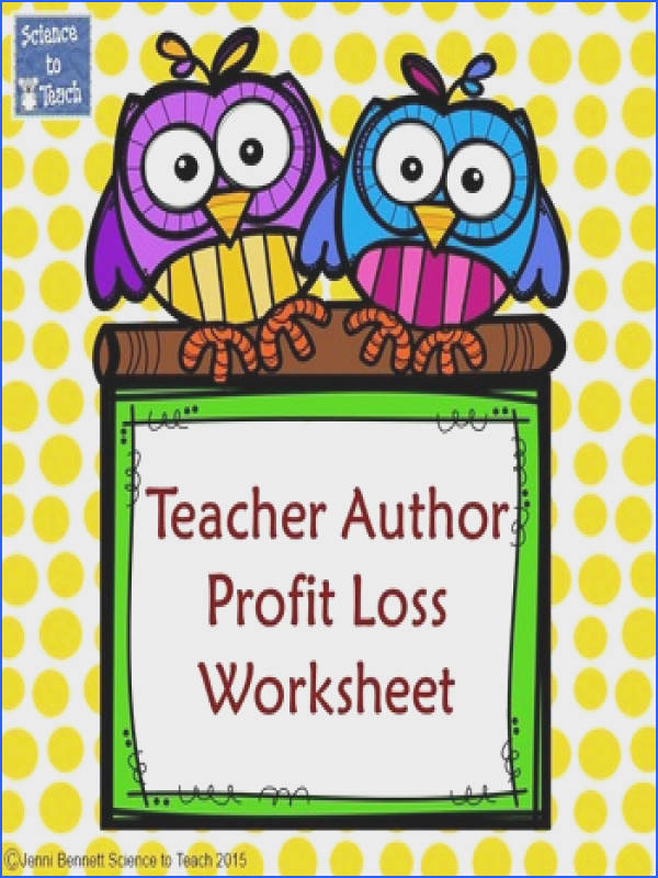 Teacher Author Profit Loss Balance Sheet With the cost of beautifying our products it