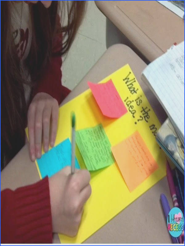 Teaching Main Idea and Supporting Details with Hands on Activities