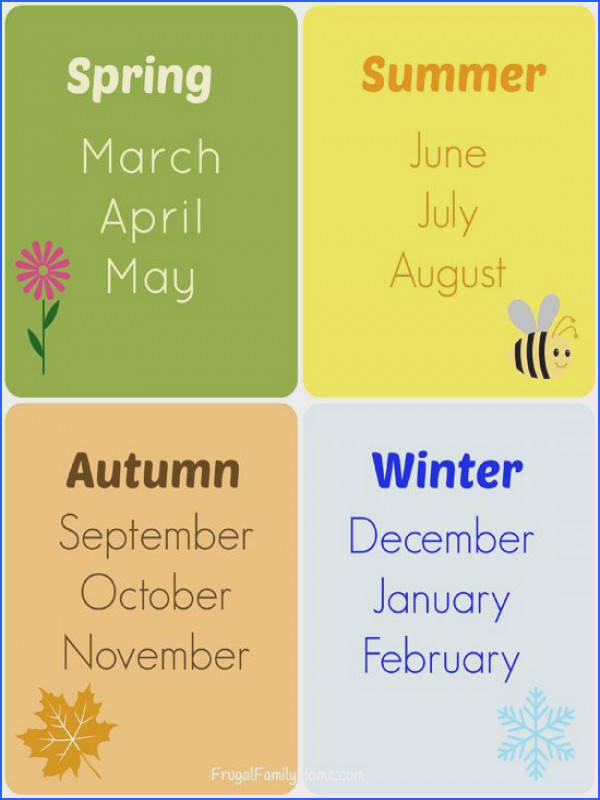 Teaching the Seasons and Months Free Printable
